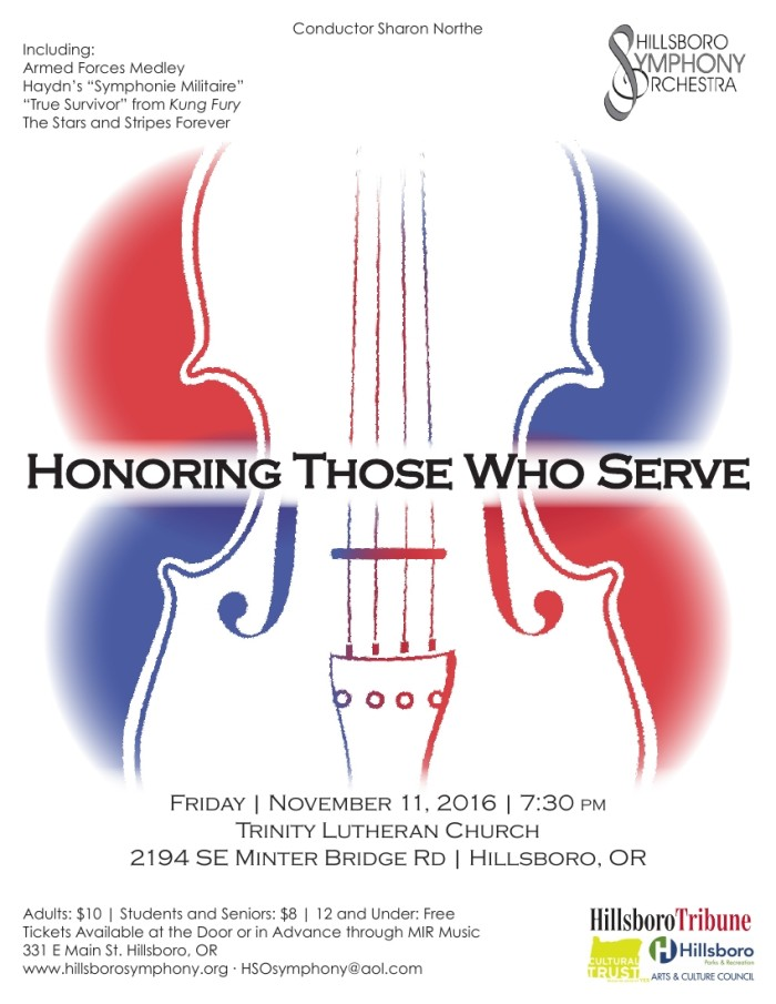 HSO Fall Concert - November 11, 2016, Trinity Lutheran Church, Hillsboro, OR