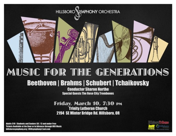 HSO Winter Concert - March 10, 2017, Trinity Lutheran Church, Hillsboro, OR