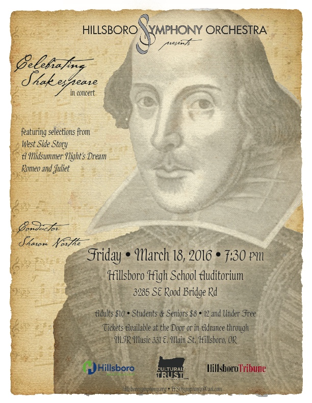 Hillsboro Symphony Orchestra Winter Concert Flyer